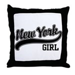 New York Girl Throw Pillow