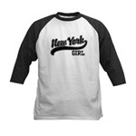 New York Girl Kids Baseball Jersey