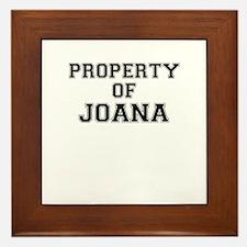 Property of JOANA Framed Tile