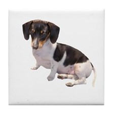 Black & White Doxie Tile Coaster