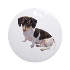 Black & White Doxie Ornament (Round)