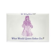 Purim WWQED Rectangle Magnet