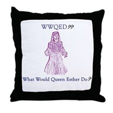 Purim WWQED Throw Pillow