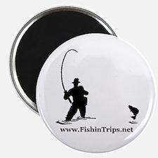 Fishin' Guy Round Magnet