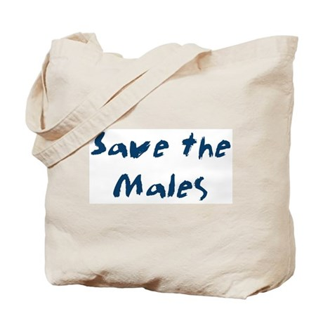 Save the Males Tote Bag