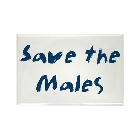 Save the Males Rectangle Magnet (100 pack)