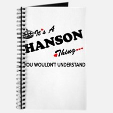 HANSON thing, you wouldn't understand Journal