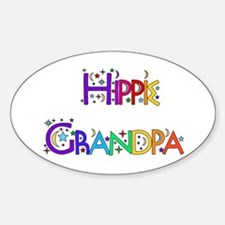 Hippie Grandpa Oval Decal