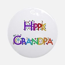 Hippie Grandpa Ornament (Round)