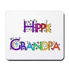 Hippie Grandpa Mousepad
