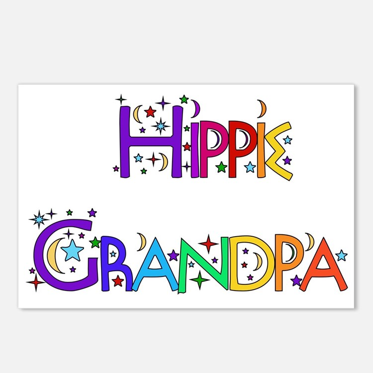 Hippie Grandpa Postcards (Package of 8)