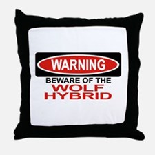 WOLF HYBRID Throw Pillow