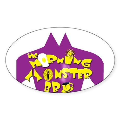 The Morning Moster Bru Oval Sticker