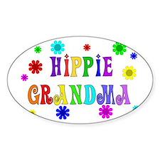 Hippie Grandma Oval Decal