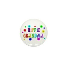 Hippie Grandma Mini Button (10 pack)