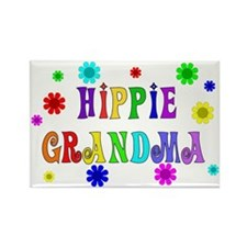Hippie Grandma Rectangle Magnet