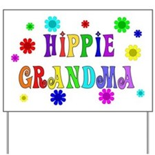 Hippie Grandma Yard Sign