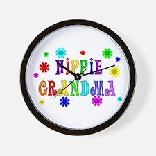 Hippie Grandma Wall Clock
