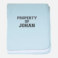 Property of JOHAN baby blanket