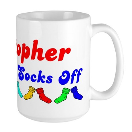 Kristopher Rocks Socks (B) Large Mug
