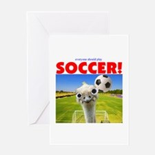 Play Soccer Greeting Card