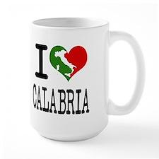 I Love Calabria Italian Mug