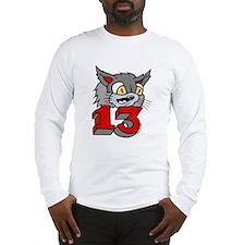 Bad Luck Cat Tattoo Long Sleeve T-Shirt