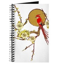Red Cardinal & Blossoms Bird Watcher Blank Journal