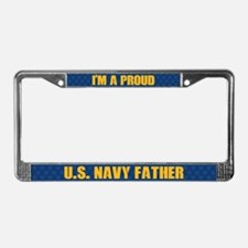 U.s. Navy Father License Plate Frame