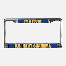 U.s. Navy Grandma License Plate Frame