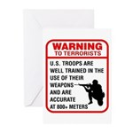 Warning To Terrorists Greeting Cards (Pk of 10)