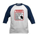 Warning To Terrorists Kids Baseball Jersey