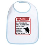 Warning To Terrorists Bib