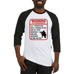Warning To Terrorists Baseball Jersey