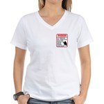 Warning To Terrorists Women's V-Neck T-Shirt
