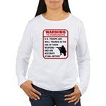 Warning To Terrorists Women's Long Sleeve T-Shirt