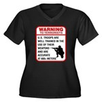 Warning To Terrorists Women's Plus Size V-Neck Dar