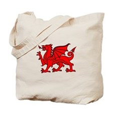 Y Ddraig Goch in Black and Red Tote Bag