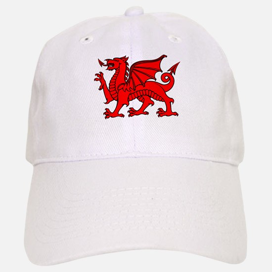 Y Ddraig Goch in Black and Red Baseball Baseball Cap
