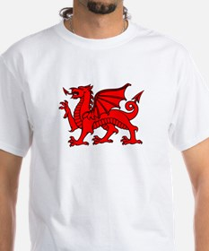 Y Ddraig Goch in Black and Red Shirt