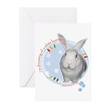 Cute White house christmas Greeting Cards (Pk of 10)