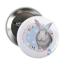 "Cute House rabbits 2.25"" Button"