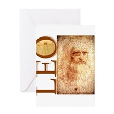 Cute Leonardo da vinci Greeting Card