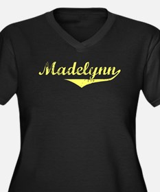 Madelynn Vintage (Gold) Women's Plus Size V-Neck D