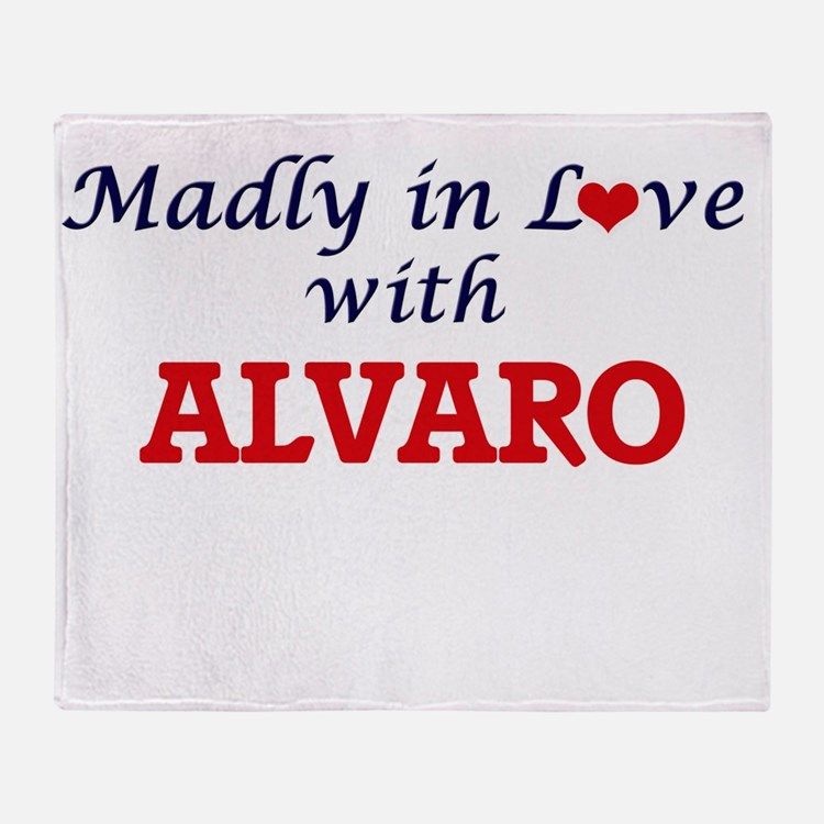 Madly in love with Alvaro Throw Blanket