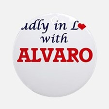 Madly in love with Alvaro Round Ornament