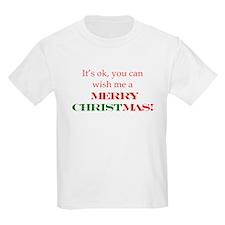 Wish me a Merry Christmas T-Shirt