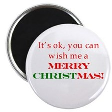 """Wish me a Merry Christmas 2.25"""" Magnet (100 pack)"""