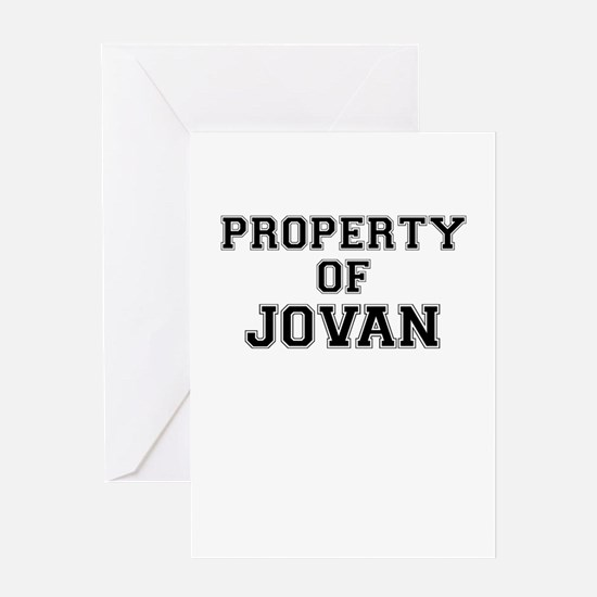 Property of JOVAN Greeting Cards
