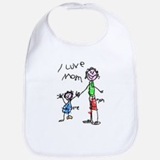 I Love Mum Bib